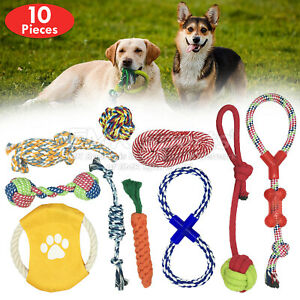 ROPE-TOYS-BEST-DOG-PET-TOYS-DURABLE-DOG-CHEW-UK-STOCK-SETS-10-PIECES