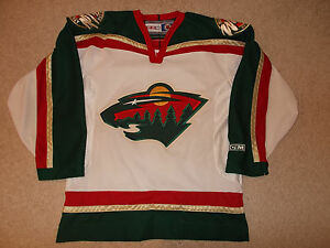 new product 36ac5 6b23a Details about 2000 Minnesota Wild First Year Sewn Pro Hockey Jersey CCM