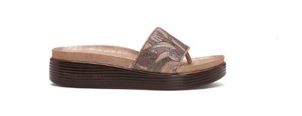 Donald Pliner Fifi 18-RU Rústico Brocado Color Topo Sandalia Tallas para Dama