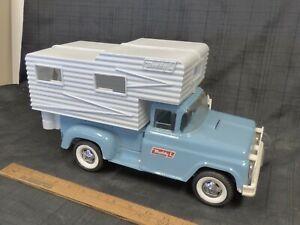1964-BUDDY-L-Camper-Truck-Pressed-Steel-Toy-ORIGINAL-Superb-Cond