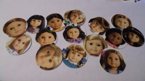 Pre Cut One Inch Bottle Cap Images DOLL AMERICAN GIRL  Free Shipping