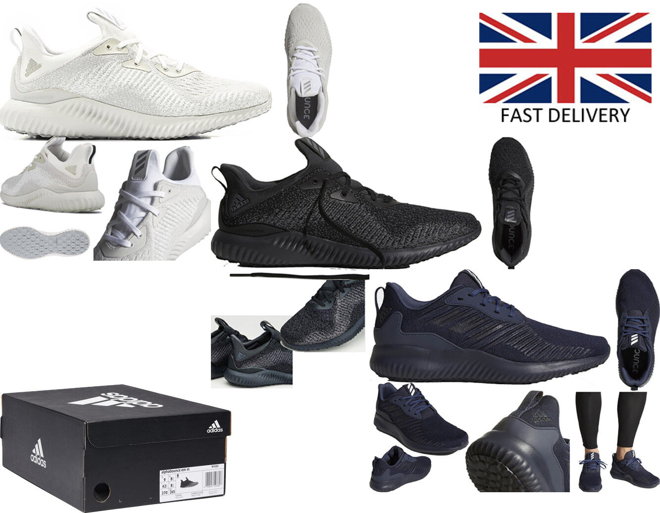 Adidas Originals Mens Running shoes Alphabounce Beyond Trainers Continental gym