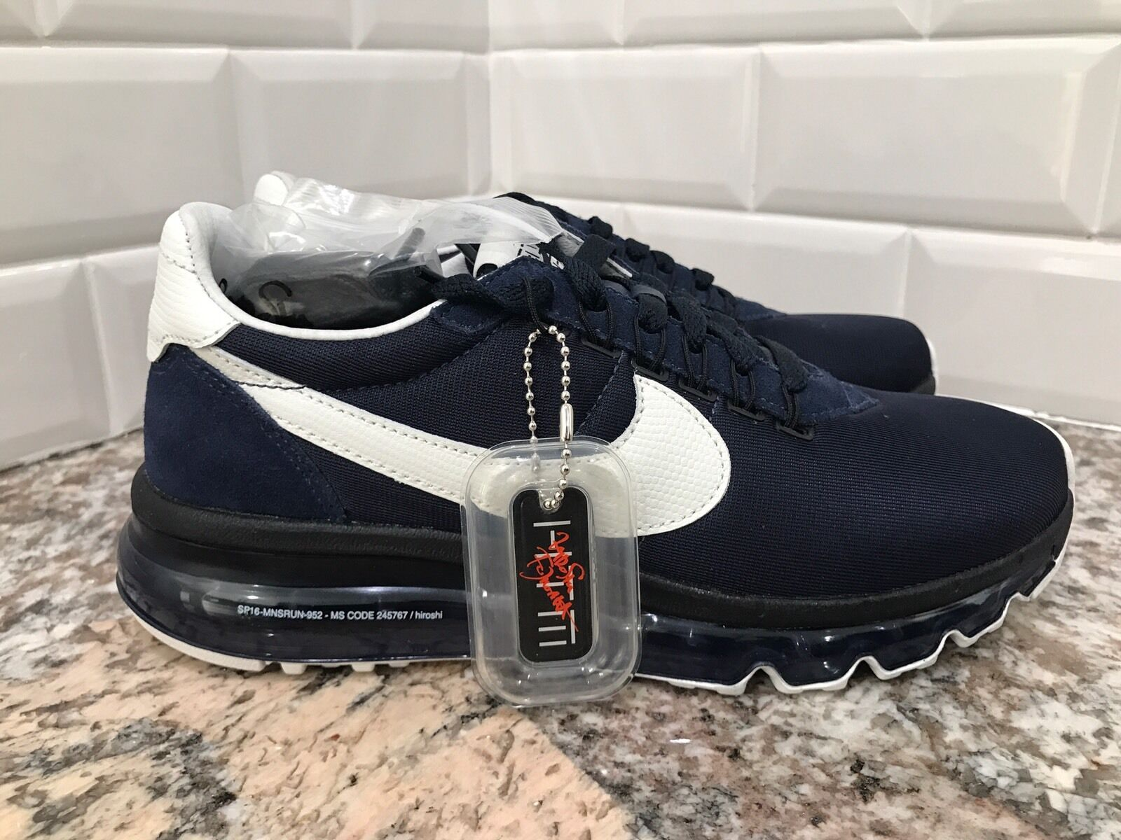 Nike Air Max 2016 LD-Zero Hiroshi Fujiwara shoes Obsidian White SZ 6 848624-410