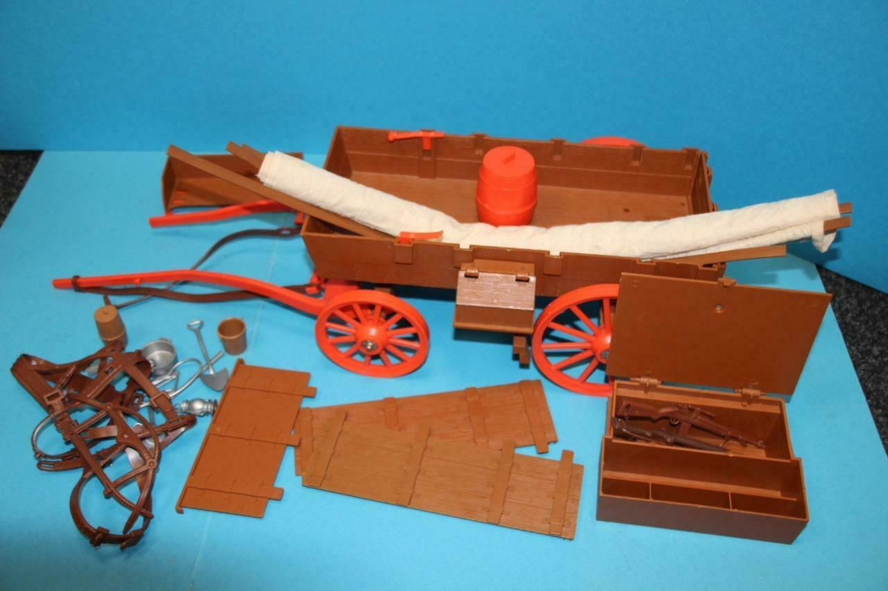 Vintage Lone Ranger Marx Gabriel figure doll + Carriage wagon + PARTS see