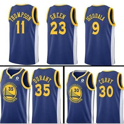 quality design bb2ae 7ff53 BASKETBALL Kevin Durant Golden State Warriors Jersey Stephen Curry Klay  Thompson | eBay