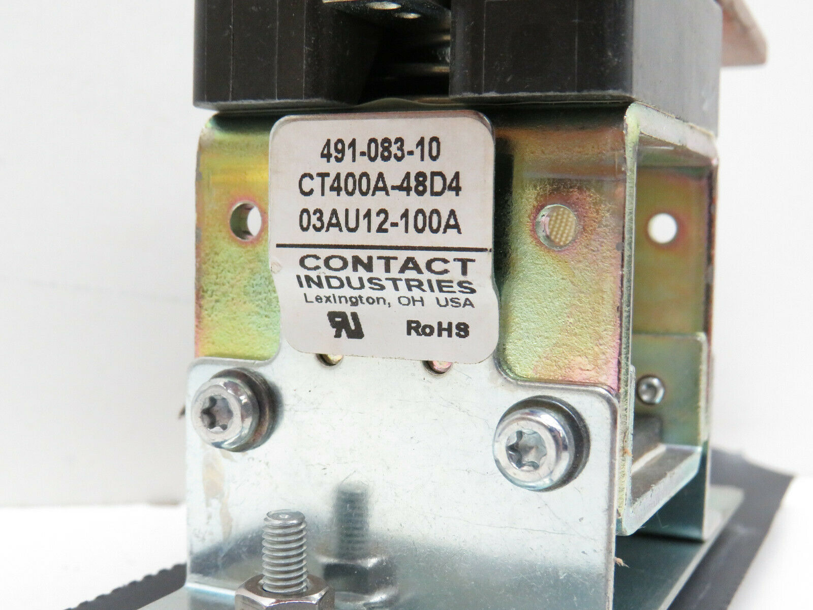 72 VDC Contactor Relay NEW Contact Industries CT400A-48C5  400 Amp at 6