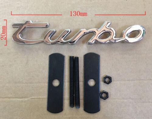 TURBO 3D Decal Metal Emblem Badge Auto Car Truck Front Grille Side Logo Bolt On