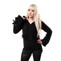 Poizen Industries Alice Hoodie Black Ladies Corset Fitting Drawstring Fleece