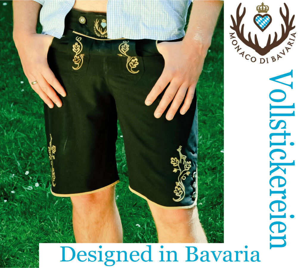 By Monaco di Bavaria originell aus Bayern - Trachten Badehose Badelederhose