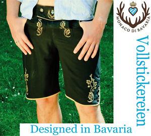 Trachten Badehose vollfl/ächig bestickt Premiummarke Badelederhose Lederbadehose Freizeithose Monaco di Bavaria Originell DAMEN Shorts Classic