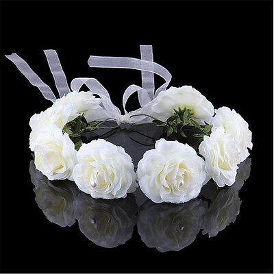 New Handmade Floral Crown Flower Headband Hair Garland Bridal Wedding Headpiece
