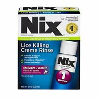6 Pack Nix Lice Killing Crème Rinse Lice Treatment 2oz Each on sale