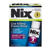 6 Pack Nix Lice Killing Crème Rinse Lice Treatment 2oz Each