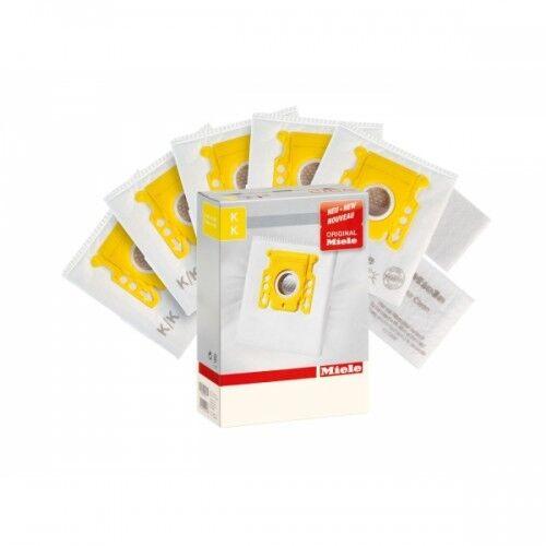 Miele KK Vacuum Cleaner Bags 4 Bags 2 Filters Yellow Collar Genuine