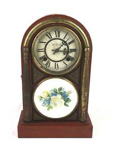 Antique Deh Shun Hing Mantel Clock for Restoration, Chefoo, China 8 Days Star