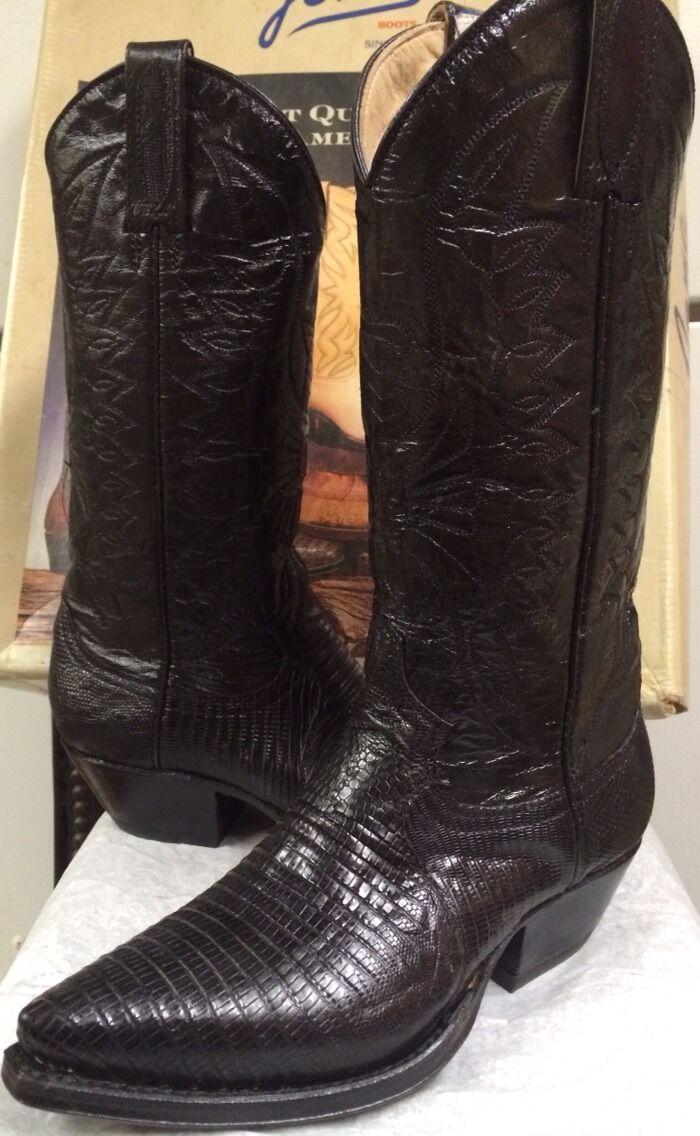 Joma para mujer botas Negro Lagarto Lagarto Lagarto occidental 533285 Talla 4.5 M Nuevo  hasta 60% de descuento