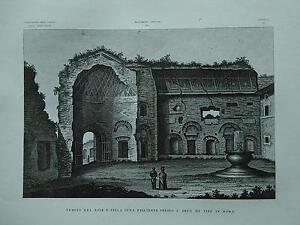 1845-Zuccagni-Orlandini-Tempio-del-Sole-e-della-Luna-presso-l-039-Arco-di-Tito-Roma