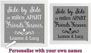 Vinyl Sticker 20x20cm Diy Box Frame Best Friends Quote Side By