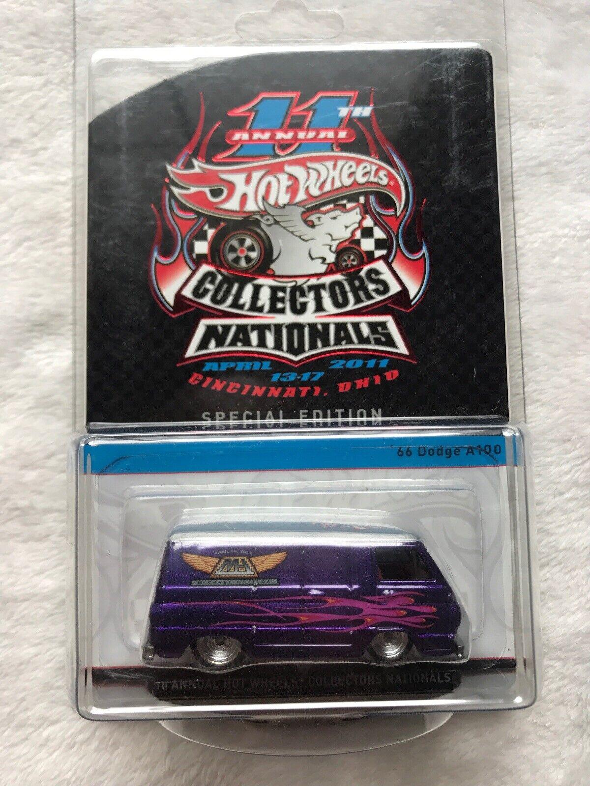 2011 Hot Wheels 11th Annual coleccionistas nacionales 66 Dodge A100 cena 1127 1200