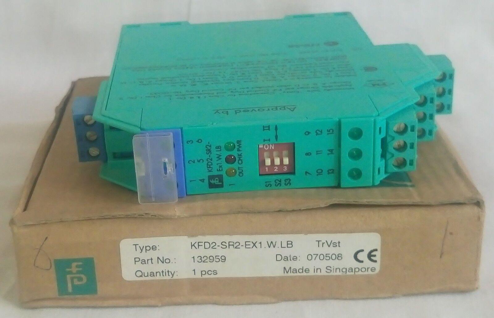 Pepperl + Fuchs KFD2-SR2-Ex1.W.LB Transformador Transformador Transformador aislado Amplificador P/N: 132959 4af191
