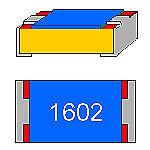 SMD-Résistance 16 kOhm 1/% 0,125 W construction compacte 0805 Ceinture