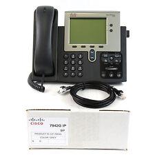 Cisco CP-7942G SIP VoIP IP Telephone PoE -High Quality Refurb- 1 YEAR Warranty!