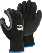 6 Pair Polar Penguin Heavy Knit Winter Grip Latex Palm Lined Insulated Gloves