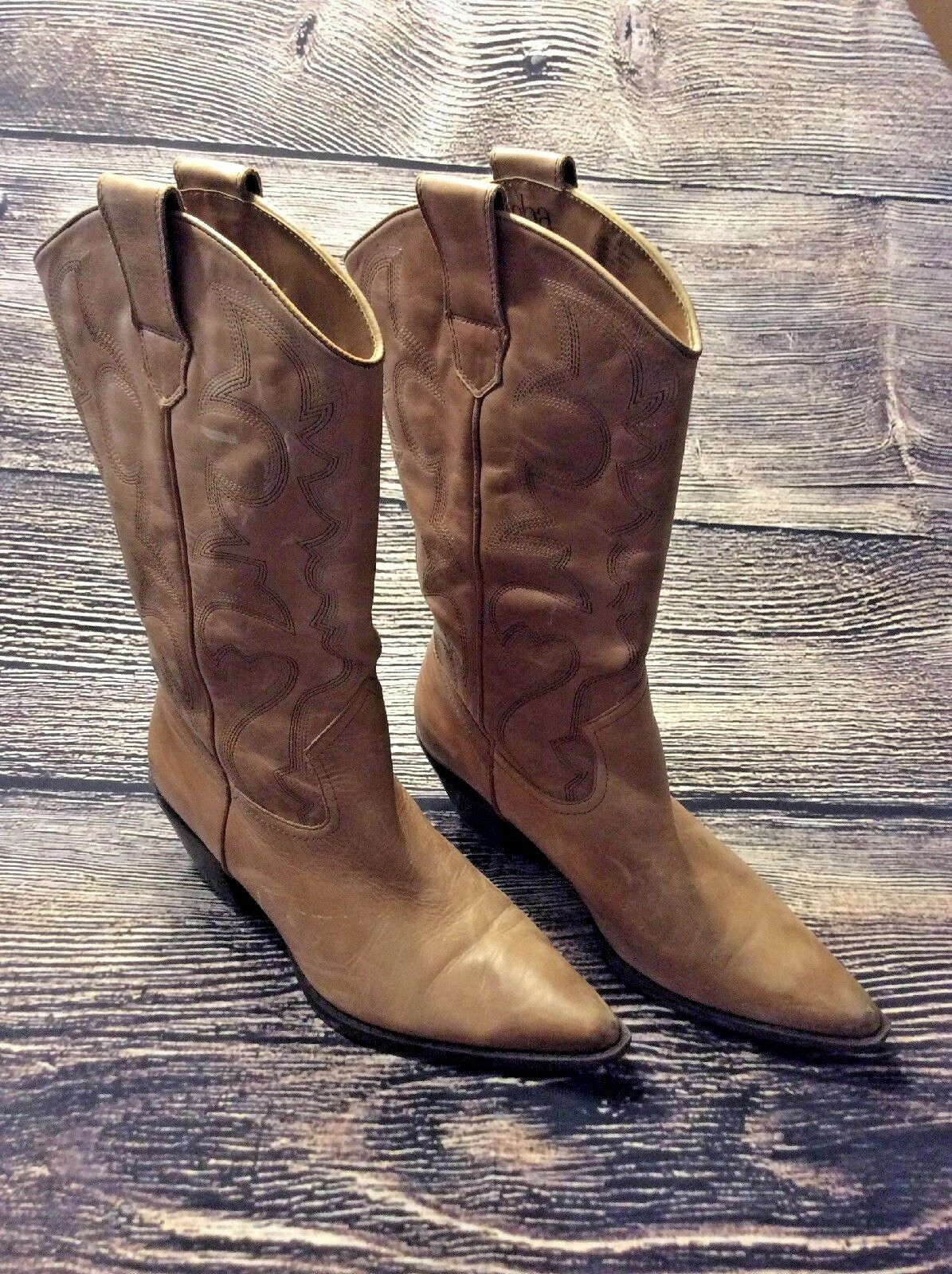 GREAT Reba Western Cowgirl Women Boots Light Brown Leather SZ 7  Mint Condition