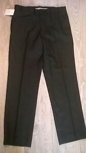 Mens-BLACK-trousers-34-034-waist-top-quality-45-wool-office-or-casual-Brand-New