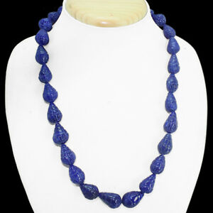 TOP-MOST-DEMANDED-426-50-CTS-EARTH-MINED-PEAR-CARVED-BLUE-SAPPHIRE-BEAD-NECKLACE