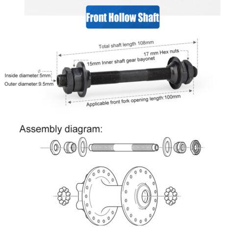 Ultralight  Bike Quick Release Skewer Set Front Rear Wheel Hub Axle