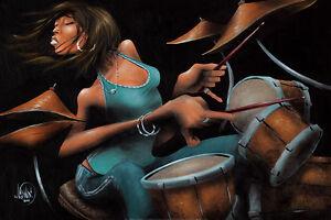David Garibaldi She Grooves  Art Print Poster 24x36