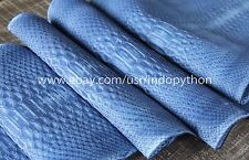 Genuine Reticulated Python Leather Hide Snake Skin Pelt Blue Jeans Nubuck Curtus