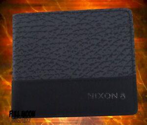 New Nixon Atlas Navy Red Mens Bifold Wallet
