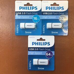PHILIPS 16 GB 32 GB 64 GB SNOW HIGH SPEED USB Flash Drive Memory Stick Pen Drive
