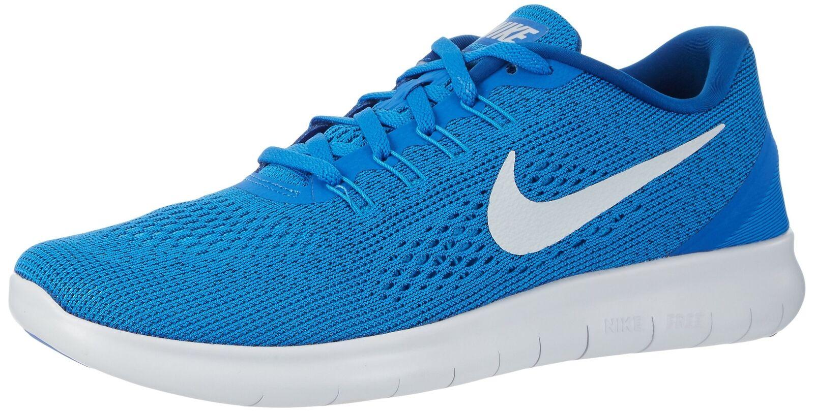 Nike Free RN Soar Pure Platinum bluee Glow Team Royal Men's Running size 10.5