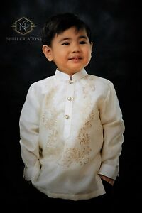 0f7085198e8 Image is loading BARONG-TAGALOG-Philippine-National-Costume-FILIPINIANA -Formal-Dress-