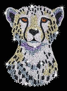 KSG-Sequin-Art-Original-Paillettenbild-Gepard-1605
