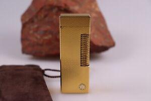 Dunhill-Feuerzeug-Rollagas-vergoldet-sehr-gut