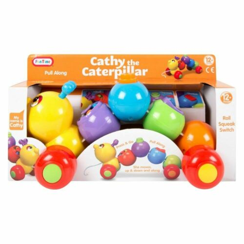 Kids Pull Along Activity Toy Animal Shape Sorter Baby Toddler Xmas Gift 12+m