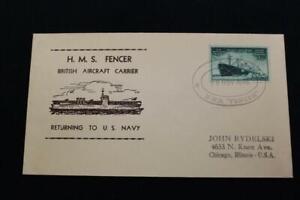 Naval-Housse-Guerre-Mondiale-2-1946-Bateau-Cancel-Hms-Fencer-Retourne-a-US-Navy