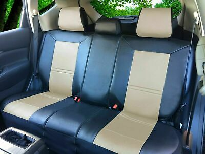 Tan PU Leather semi custom Rear Car Seat Cover for all type Split Bench #209