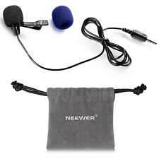 Neewer NW-805 3.5mm Deluxe Clip-on Lavalier Lapel Omnidirectional Microphone