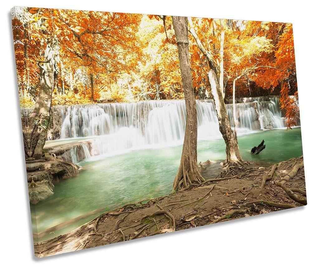 Immagine di cascata paesaggio TROPICALE SINGLE TELA Wall Art Print