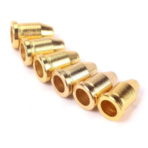 """1//4/"""" pour guitare TELECASTER NEW 6 FERRULES métal gold"""