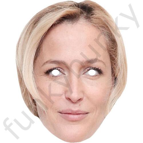 Gillian Anderson educazione sessuale /& x-FILES attrice carta Celebrità Maschera pre-tagliati