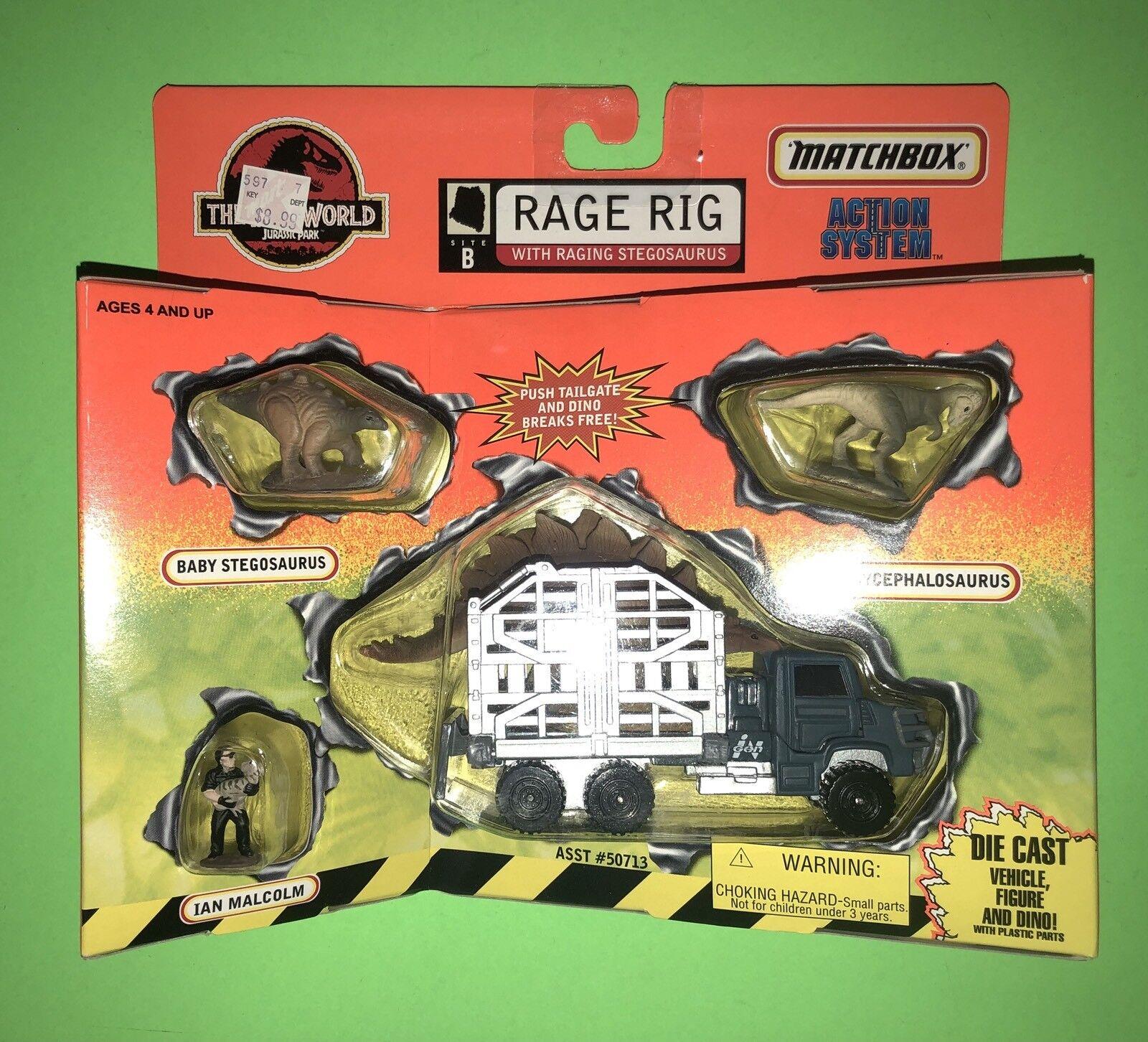 The Lost World Jurassic Park Rage Rage Rage Rig Raging Stegosaurus by Matchbox NEW SEALED  124c3b