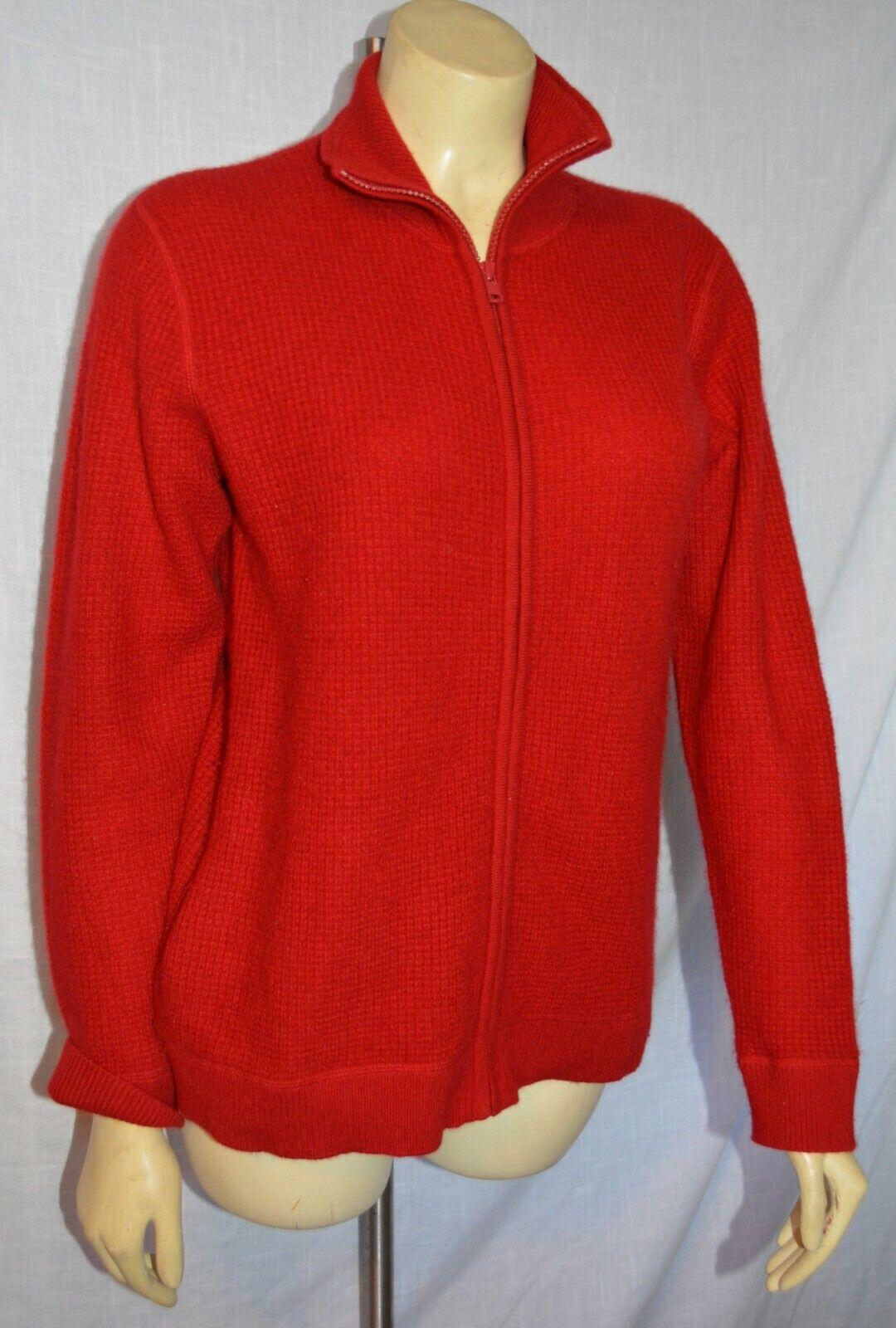 Gorgeous Neiherren Marcus Bre Cashmere Zip Up autodigan Sweater stunning rot S