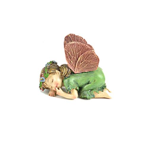 "Flower Child Green 4/"" x 2/"" Miniature Fairy Garden Dollhouse Resin"