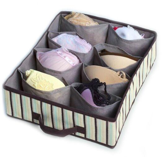 Drawer Organiser 10 compartments Bra Storage Solution box socks organiser -Ossor